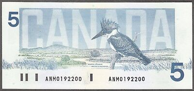 1986 Bank of Canada - $5.00 Bank Note - Ch. Unc - Knight Thiessen - AMO 0192200