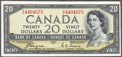 1954 Bank of Canada - $20 Devil Face Note - VF/EF - Coyne Towers - B/E 4404673