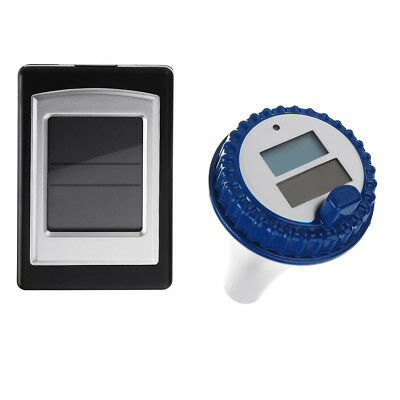 Solar Wireless Remote Floating Thermometer Swimming Pool Waterproof Tub Pond Spa