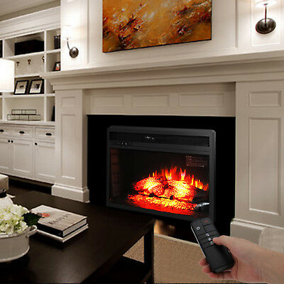 35 Xl Large 1500w Adjustable Electric Wall Mount Fireplace Heater W