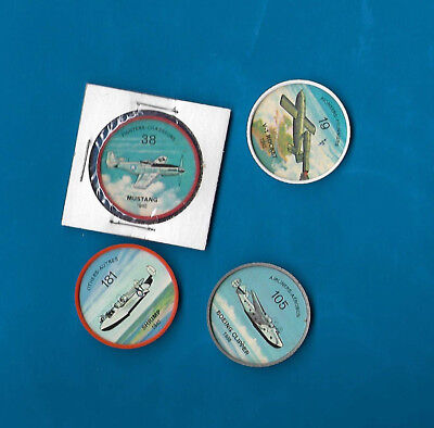 1960's Jello Airplane Coins Lot of 4  #s 19/38/105/181  NM-MT