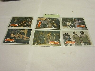 1967 Planet of the Apes Cards # 13, 15, 17, 19, 24, and 36 (5 are EX to NRMT)