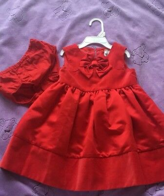 Carter Baby Girl Toddler Size 24 Months Red Dressy Holiday Dress Cute