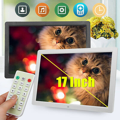 17'' Digital Photo Picture Frame Clock/Music/Video/Movie Player 16G sd + Remote