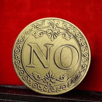 Floral YES NO Letter Commemorative Coin Ornaments Collection Souvenir Gifts Nice