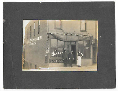 Antique Cabinet Photo, 1900 Old Indiana Saloon Interior w/Beer & Tobacco Ads
