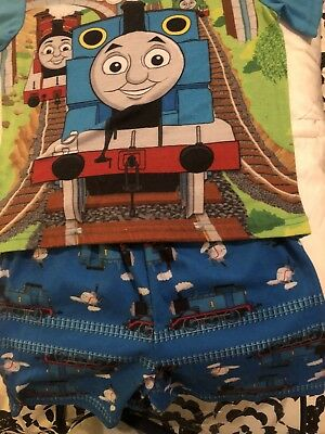 Toddler Boy Size 3T Thomas The Train Pajama Set Adorable Shorts . Smoke Free