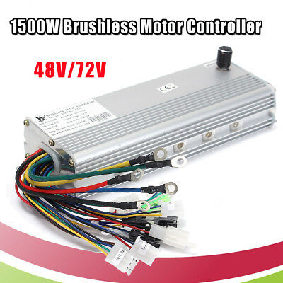 48V/72V 1500W Electric Bicycle Brushless Motor Controller for E-bike &