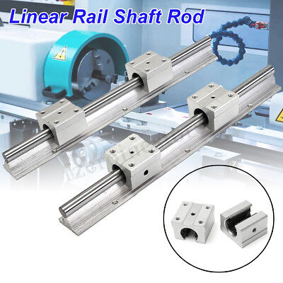 2Pcs SBR12-300mm Fully Supported Linear Rail Shaft Rod +4 SBR12UU Bearing
