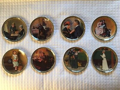 Rockwell's American Dream - 8 Authentic Plates Full Series - Knowles Fine China