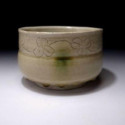 ZD8: Vintage Japanese Tea Bowl of Seto Ware, SAKURA