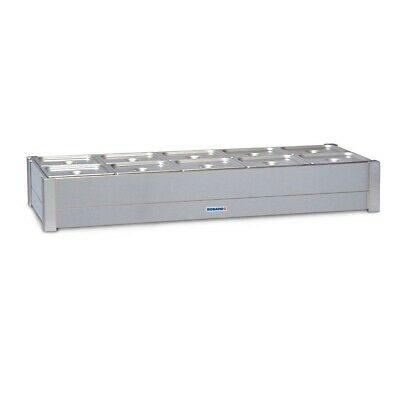 Roband Hot Bain Marie 8 X 1/2 Size, Pans Not Included, Double Row Bm24