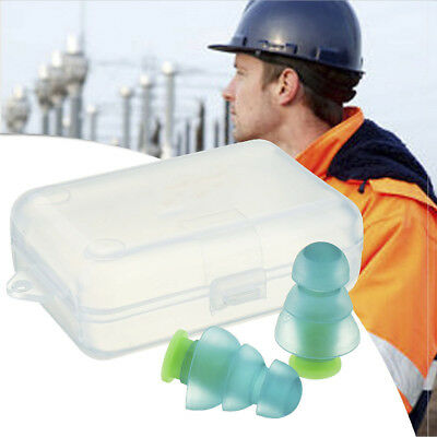 Noise Cancelling Ear Protection Plugs+Box for Sleeping Concert Musician Hearing