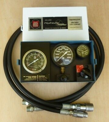 Otc In-Line Hydraulic Flow Tester, Two New Hoses & Couplers, 50 Gpm
