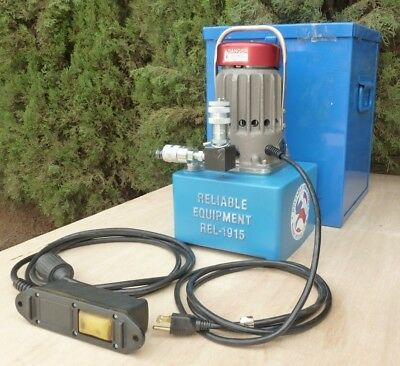 Electric Hydraulic 10,000 psi Single-Acting Pump w/ Remote & Case, REL-1915