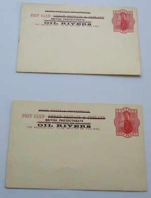2 x Oil Rivers (Nigeria) Postcards. See Pic for Info.