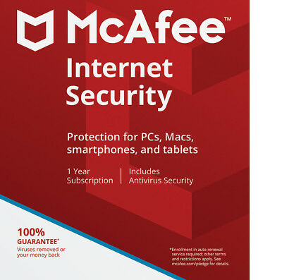 McAfee Internet Security 2019 Anti Virus,Antivirus,Email Delivery! Unlimited Pcs
