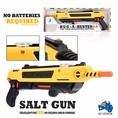 Salt Gun for Flies Bees Stink Bugs Insect Mosquito Bug using a salt Aiming aid