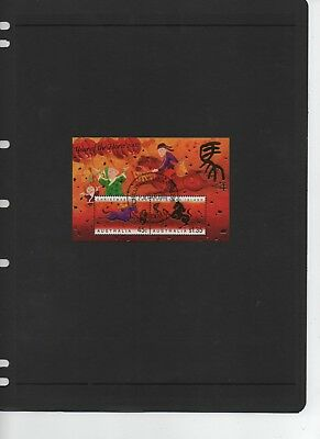 2002 Christmas Island Stamps - Year of the Horse - CTO  MNH Minisheet