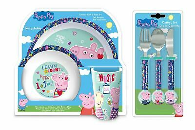 Peppa Pig 6-Piece Dinner and Cutlery Set