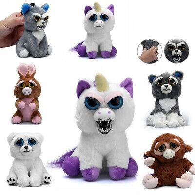 Feisty Toy Soft Plush Stuffed Scary Face Toy Animal With Attitude Key Gifts Xmas