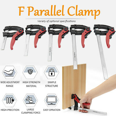 F Clamp 120° Grip Quick Ratchet Woodworking Hand Tool DIY 100/160/200/250/300mm