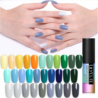 5ML LILYCUTE Vernis à Ongles Gel Polish Nail Art UV Semi Permanent Manucure