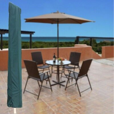 Garden Patio Parasol Umbrella Cover Bag Green Fit 7ft Umbrella +Draw String