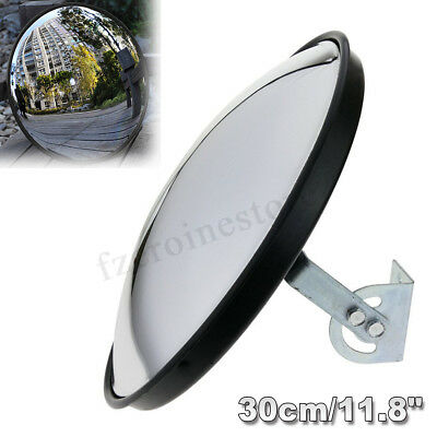 30cm/12'' Wide Angle Security Curved Convex Road Traffic Mirror Driveway