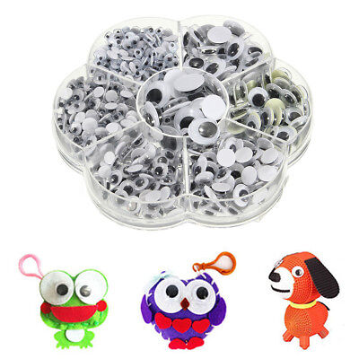 700Pcs 7 Sizes DIY Round Self-adhesive Wiggly Googly Eyes Doll Toy
