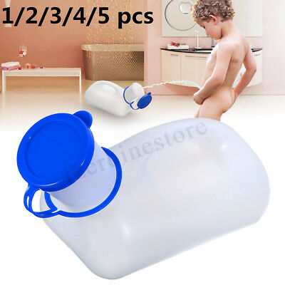 1-5pcs 1200ml Unisex Urine Wee Pee Bottle Urinal Camping Travel Car Toilet +