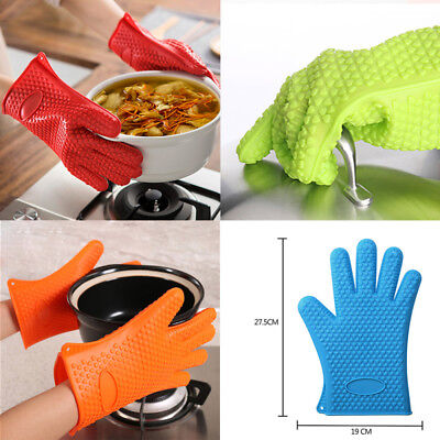 Silicone High Temperature Resistant Cooking Grilling Waterproof Barbecue Gloves