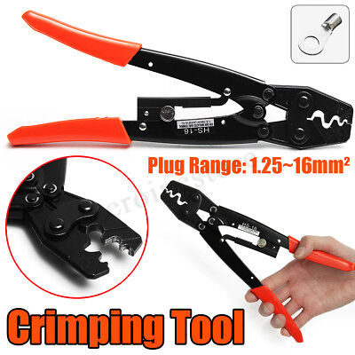 Crimper Crimping Tool Cable Wire Stripper Hand Ratchet Plier 1.25-16mm² 50 Amp