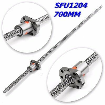 SFU1204 L700mm Rolled Ball Screw C7 With 1204 Single Ball Nut For BK/BF10 CNC !