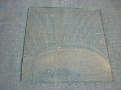 "Old Clock Glass Square Convex 6 1/16"" X 6"""