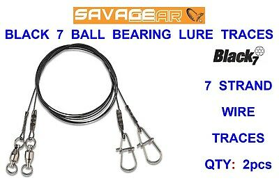 Savage Gear Black7 Traces  spinning lure predator fishing  crazy price