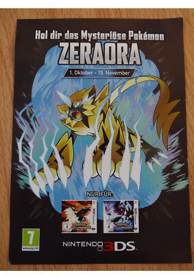NEU!!! Pokemon ZERAORA download Code. für Nintendo 3DS.