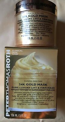 Peter Thomas Roth 24K Gold Mask Pure Luxury Lift & Firm Mask 150Ml New Rrp £77