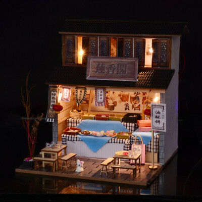DIY Handcraft Miniature Project Wooden Dolls House - Antique Snack Shop