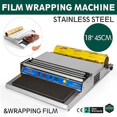 """18"""" Food Tray Film Wrapper Wrapping Machine W/Film Seal Stainless Steel Frozen"""
