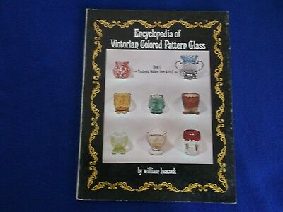 Victorian Colored Pattern Glass Book 1 Custard Glass From A to Z Heacock ~ PB G