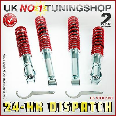 Coilover Adjustable Suspension Vw Caddy Mk2 Front + Rear Shocks - Coilovers