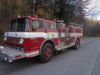 1989 FORD 8000, E-ONE FIRE TRUCK  (Nice truck) Diesel
