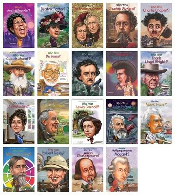 NEW Creative Minds Who Was Is Set of 19 Paperback Books Biographies Jane Austin