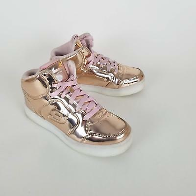 734cdc67742f SKECHERS KIDS GIRLS  Energy Lights-Dance-N-Dazzle Sneaker Rose Gold 3 M   3748  -  5.99