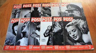 Job Lot 12x Vintage Picture Post Magazines 1941 & 1942 WW2 ALL SHOWN