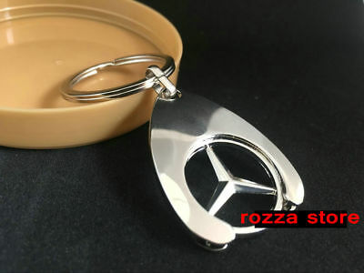 Mercedes-Benz Collection 'Chip' Keyring with Trolley Coin Insert.