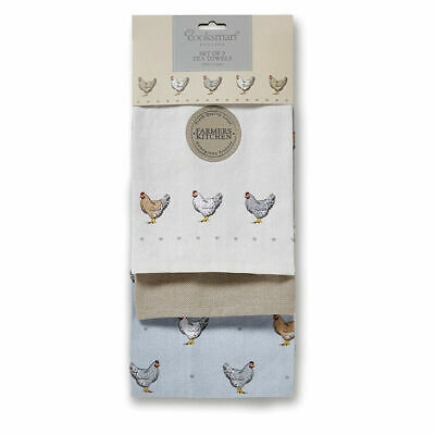 Pack of 3 Tea Towels Farmers Kitchen by Cooksmart