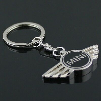 Mini Key Ring Keyring Keychain Metal Black Chrome Clubman Cooper S One Chilli