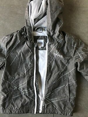 Grey Baby Boys Hugo Boss jacket  Age 18 Months zip front with hood